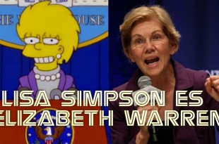 LISA SIMPSON ES ELIZABETH WARREN
