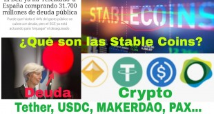 Stable coins: Tether, USDC, MAKERDAO